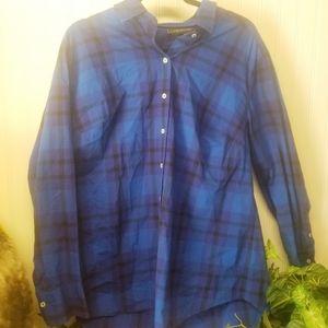 Lane Bryant Buffalo Plaid Girlfriend Shirt Size 16